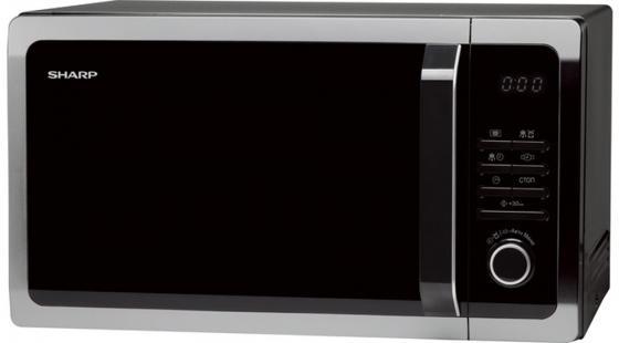 Микроволновая печь Sharp R3852RK 900 Вт чёрный серебристый микроволновая печь sharp r 2000rw 800 вт белый черный