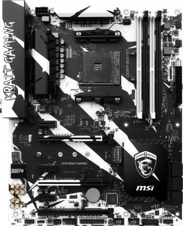 Материнская плата MSI X370 KRAIT GAMING Socket AM4 AMD X370 4xDDR4 3xPCI-E 16x 3xPCI-E 1x 6xSATAIII ATX Retail видеокарта 6144mb msi geforce gtx 1060 gaming x 6g pci e 192bit gddr5 dvi hdmi dp hdcp retail