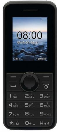"""Мобильный телефон Philips E106 черный 1.77"""" 32 Мб мобильный телефон philips e116 черный"""