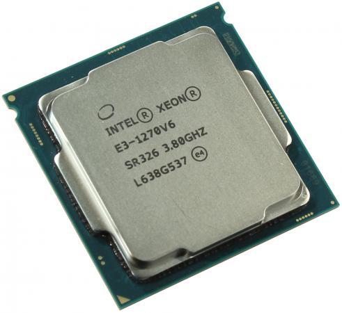 Процессор Intel Xeon E3-1270v6 3.8GHz 8Mb LGA1151 OEM процессор intel xeon x4 e3 1271v3 3 6ghz 8mb lga1150 oem