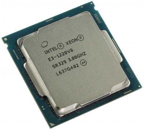 Процессор Intel Xeon E3-1220v6 3.0GHz 8Mb LGA1151 OEM процессор intel xeon x4 e3 1271v3 3 6ghz 8mb lga1150 oem