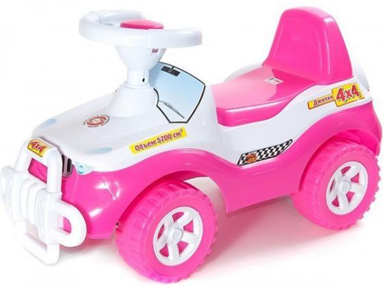 Каталка-машинка R-Toys Джипик ОР105к пластик от 8 месяцев с клаксоном розовый каталка машинка rich toys джипик police пластик от 8 месяцев с клаксоном красный ор105