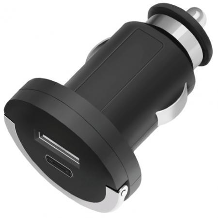 цена на Автомобильное зарядное устройство Deppa 11210 3.4A USB-C USB черный