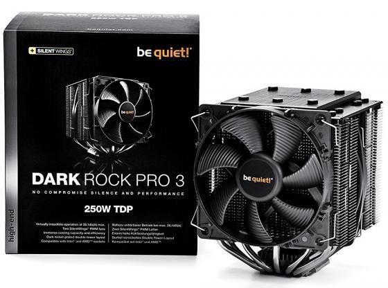 Кулер для процессора Be quiet! Dark Rock Pro 3 BK019 Socket 775/1150/1151/1155/1156/1356/1366/2011/2011-3/AM2/AM2+/AM3/AM3+/FM1/FM2/FM2+ кулер thermalright macho rev a macho a intel 775 1150 1155 1156 1366 2011 2011 3 amd am2 am2 am3 am3 fm1 fm2 fm2