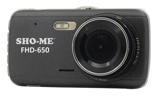 Видеорегистратор Sho-Me FHD-650 4 1920x1080 120° G-сенсор USB microSD microSDHC автомобильный видеорегистратор sho me sfhd 500