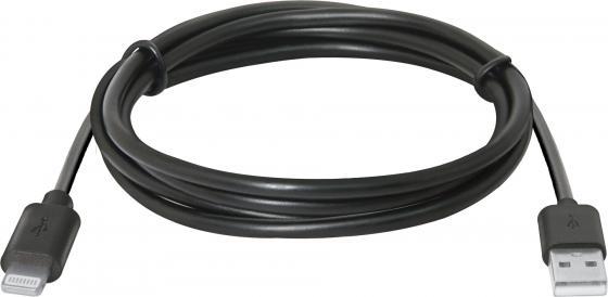 Кабель Lightning 1м Defender ACH01-03BH круглый 87478 кабель microusb 1м defender usb08 03bh круглый 87476