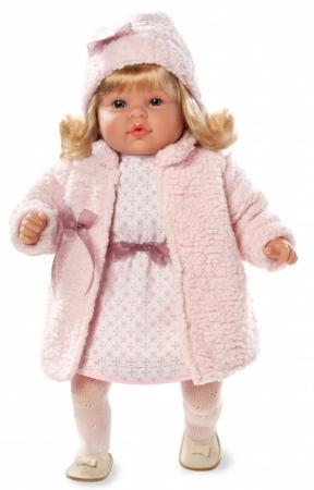Кукла Arias Elegance в шубке 50 см смеющаяся Т59804 arias кукла клоун 38 см т59774