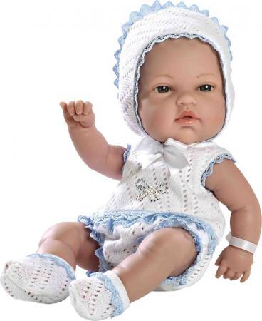Пупс Arias в бело-голубом костюмчике со стразами Swarowski 33 см Т59283 arias пупс elegance в меховом голубом конверте