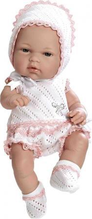 Пупс Arias в бело-розовом костюмчике со стразами Swarowski 33 см Т59282 arias пупс виниловый в бело бежевом костюмчике со стразами swarowski в виде соски 42см кор arias