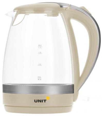 Чайник Unit UEK-254 2200 Вт бежевый 1.7 л стекло rm1 2337 rm1 1289 fusing heating assembly use for hp 1160 1320 1320n 3390 3392 hp1160 hp1320 hp3390 fuser assembly unit