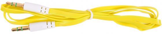 Кабель соединительный 0.75м Belsis 3.5 Jack - 3.5 Jack плоский желтый BL1102 акустический кабель 2х2 5 мм2 14 ga плоский белый belsis bw7002w