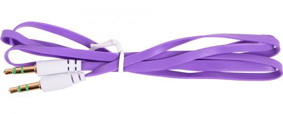 Кабель соединительный 0.75м Belsis 3.5 Jack - 3.5 Jack плоский фиолетовый BL1103 акустический кабель 2х2 5 мм2 14 ga плоский белый belsis bw7002w