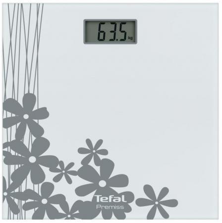 Весы напольные Tefal Premiss Flower White PP1070 серый рисунок весы напольные tefal pp1061v0 premiss white стекло до 150кг