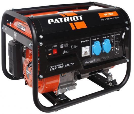 Генератор Patriot GP 3510 бензиновый генератор бензиновый patriot gp 7510ale