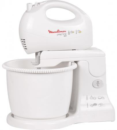 Миксер ручной Moulinex HM412131 450Вт белый/серый цена