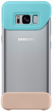 Чехол Samsung EF-MG955CMEGRU для Samsung Galaxy S8+ 2Piece Cover зеленый/коричневый