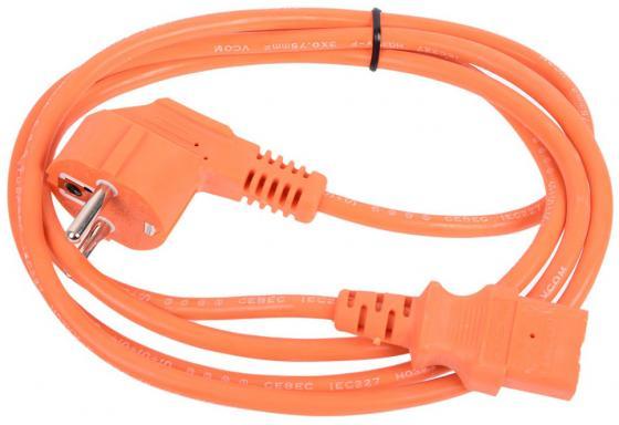 Кабель питания 1.8м VCOM Telecom CE021-CU0.75-1.8M-O оранжевый кабель питания монитор системный блок 1 8м vcom telecom ce001 cu0 5 1 8m