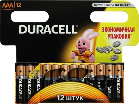 Батарейки Duracell Basic MN2400 -12BL AAA 12 шт батарейки duracell basic lr6 4bl aa 4 шт