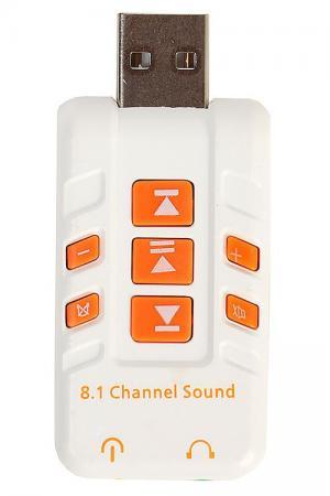 Переходник USB - 2 x jack 3.5 mm Orient AU-01PLW 30329 bering 30329 742