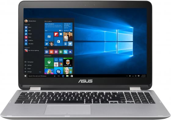 Ноутбук ASUS TP501UQ-DN081T 15.6 1920x1080 Intel Core i7-7500U 1 Tb 8Gb nVidia GeForce GT 940M серый Windows 10 90NB0CV1-M00930 ноутбук asus tp501uq