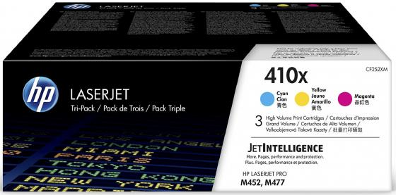 Картридж HP 410X CF252XM для HP Color LaserJet Pro M452dn M452nw M377dw M477fdn M477fdw M477Fnw цветной тройная упаковка принтер hp color laserjet pro m 452 nw cf 388 a