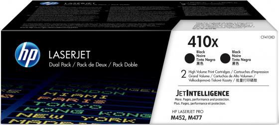 Картридж HP 410X CF410XD для HP Color LaserJet Pro M452/477 черный 6500стр картридж hp cf383a 312a magenta для color laserjet pro m476 2700стр