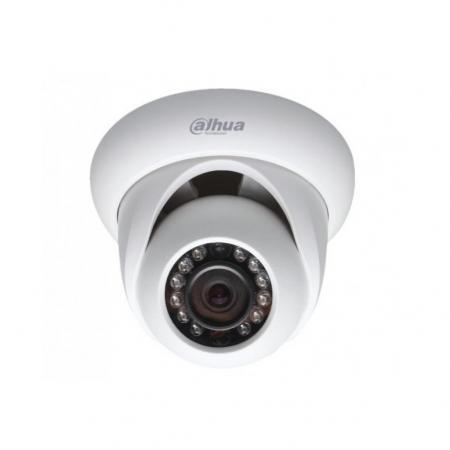 "Камера IP Dahua DH-IPC-HDW1020SP-0280B-S3 типа шар, 1/4"" 1Мп CMOS, фиксированный объектив 2,8мм, 0.5/0лк ИК (F2.5) , H.264+/H.264, 25fps@720P, DWDR, ИК 30м, Audio -/-, Alarm -/-, DC12V/PoE, -40C~+60C, IP67 dahua 4pcs 4mp poe ip camera dh ipc hfw4421s system security camera outdoor 8ch 1080p nvr4108 8p kit h 264 video recorder"