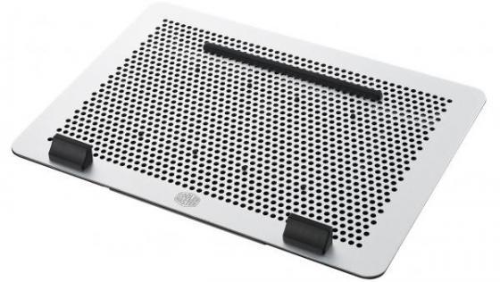 """Подставка для ноутбука до 17"""" Cooler Master MasterNotepal Maker MNZ-SMTE-20FY-R1 алюминий/пластик 2000об/мин 27.24db серебристо-черный"""