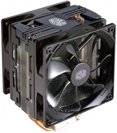Кулер для процессора Cooler Master CPU Cooler Hyper 212 Turbo Black LED Socket 2066/2011-3/2011/1366/1156/1155/1151/1150/775 RR-212TK-16PR-R1 pccooler for intel lga 2011 cpu cooler bracket motherboard socket fan intall fastening plastic stents framework frame