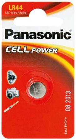 Батарейка Panasonic Micro Alkaline LR-44EL 1 шт ag8 lr55 1 55v alkaline cell button batteries 10 piece pack
