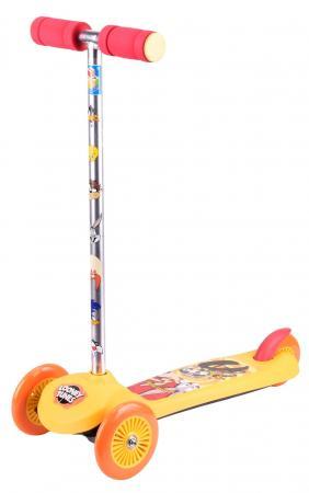 Самокат трехколёсный 1TOY Looney Tunes 5/4 оранжевый Т59554 тапочки looney tunes lt13401