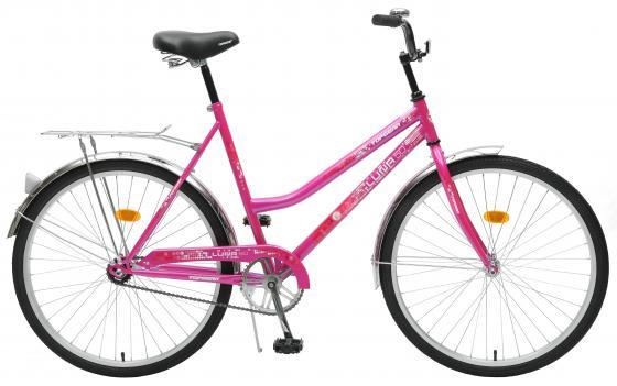 Велосипед двухколёсный Top Gear Luna 50 26 розовый ВН26246 велосипед двухколёсный top gear delta 50 вн26247 26 черно синий