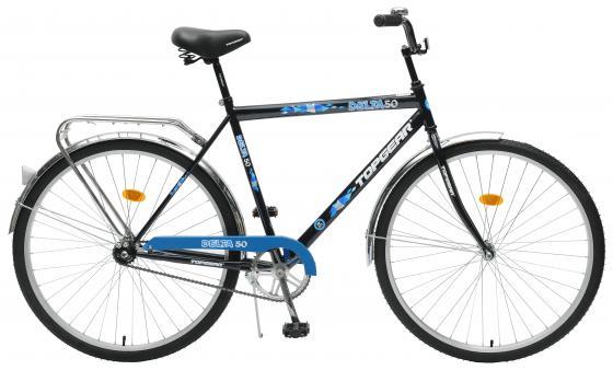 Велосипед двухколёсный Top Gear Delta 50 28 черно-синий велосипед двухколёсный top gear delta 50 вн26247 26 черно синий