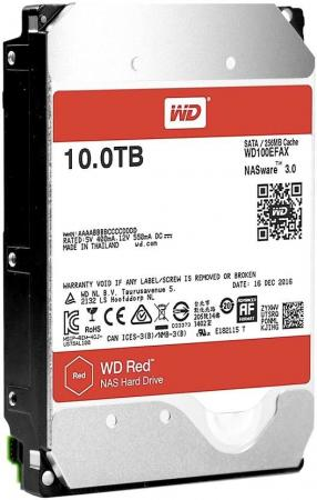 Жесткий диск 3.5 10Tb 5400rpm Western Digital WD Red SATAIII WD100EFAX