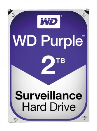 Фото - Жесткий диск 3.5 2 Tb rpm 64Mb cache Western Digital Purple WD20PURZ SATA III 6 Gb/s жесткий диск 3 5 10 tb 7200rpm 256mb cache western digital purple wd101purz sata iii 6 gb s