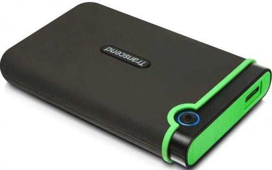 Внешний жесткий диск 2.5 USB 3.0 1 Tb Transcend StoreJet 25M3 TS1TSJ25M3E черный/зеленый transcend storejet 25m3 1tb