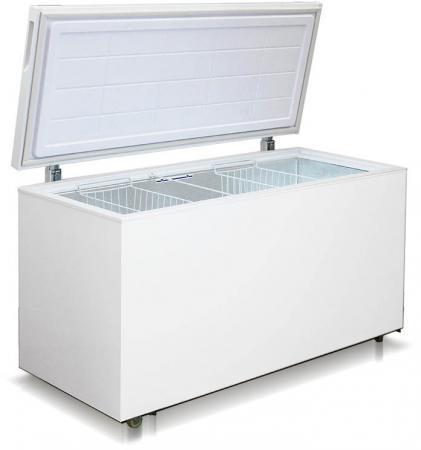 Морозильный ларь Бирюса 455VK белый морозильный ларь haier hce 203 r