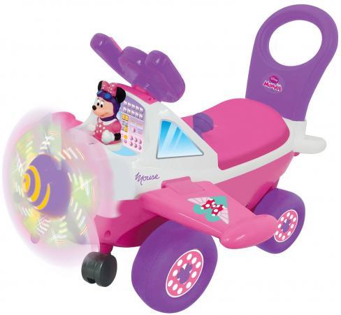 Каталка-пушкар Kiddieland Самолет Минни пластик от 10 месяцев на колесах розовый