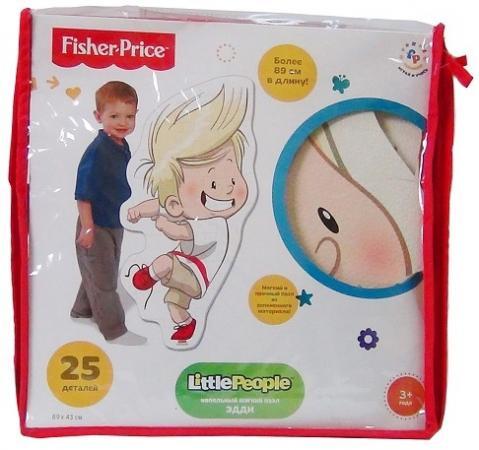 Пазл напольный 25 элементов Fisher Price Мои друзья Эдди флексика пазл для малышей геометрия цвет основы красный