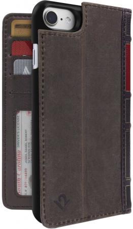 Чехол-книжка Twelve South BookBook в твердом переплете для iPhone 7 коричневый 12-1658