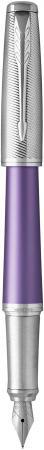 Перьевая ручка Parker Urban Premium F311 Violet CT синий F 1931621 перьевая ручка parker urban premium f312 pearl metal ct синий f 1931609