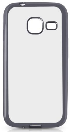 Чехол силиконовый DF sCase-26 с рамкой для Samsung Galaxy J1 mini 2016 серый космос аксессуар чехол samsung galaxy a7 2016 df scase 24 rose gold