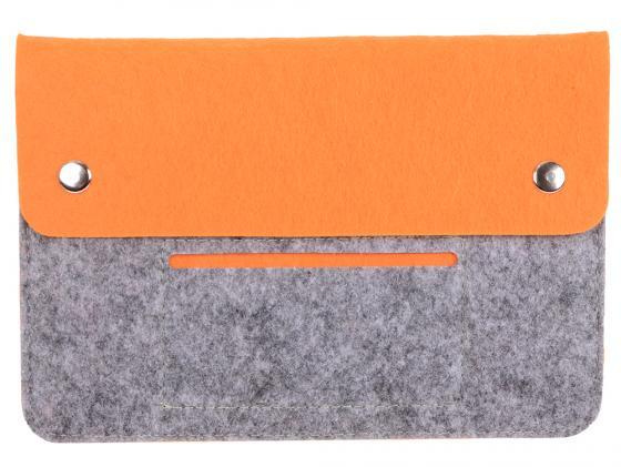 Чехол IQ Format универсальный для планшетов 8 серый/оранжевый