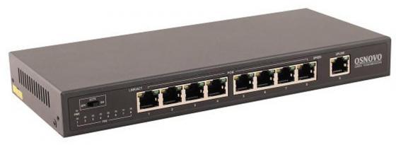 Коммутатор Osnovo SW-20900/B 8 портов 10/100Mbps 1xSFP коммутатор osnovo sw 10800 i ver 2 неуправляемый 8 портов 10 100mbps