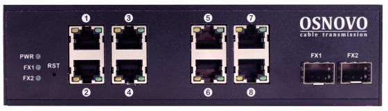 все цены на Коммутатор Osnovo SW-70802/I неуправляемый 8 портов 10/100/1000Mbps 2xSFP
