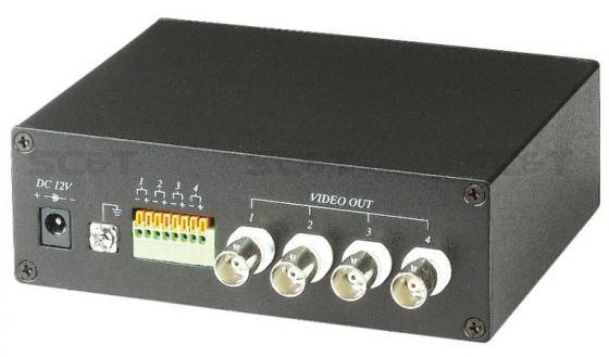 Приемник SC&T TTA414VR 2 активный 4-х канальный приемник видео сигнала по витой паре аудио видео приемник immersion rc uno v1 2 4g filtered