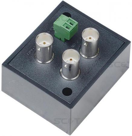 Усилитель-разветвитель видеосигнала HDCVI/HDTVI/AHD SC&T CD102HD аудио разветвитель dbx sc 234xl pk