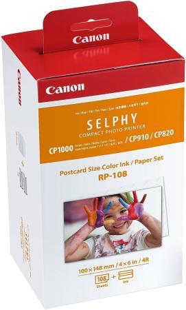 Набор Canon RP-108 бумага и цветные красители для SELPHY CP1200 108стр 8568B001 картридж canon rp 108 10x15 для selphy cp