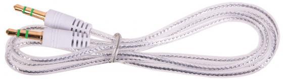 Кабель соединительный 0.75м Belsis 3.5 Jack - 3.5 Jack прозрачный серебристый BL1104 акустический кабель 2х2 5мм2 14 ga прозрачный belsis bw7707 soft