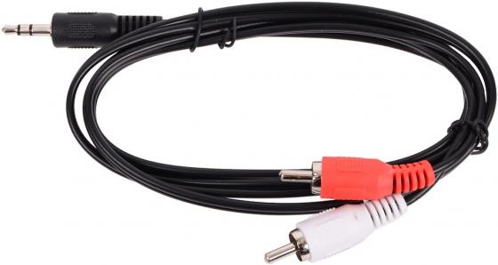 Кабель соединительный 1.0м Belsis 3.5 Jack - 2xRCA BL1066 кабель belsis bl1107 jack 3 5 mm jack 3 5 mm вилка вилка стерео 0 75 м черный